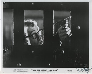 WOODY ALLEN - PRINTED PHOTOGRAPH SIGNED IN INK  - HFSID 323454