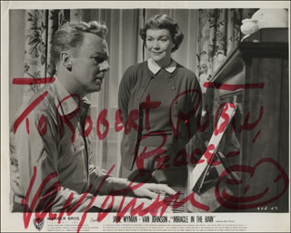 VAN JOHNSON - INSCRIBED PRINTED PHOTOGRAPH SIGNED IN INK