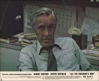 JASON ROBARDS JR. - INSCRIBED PRINTED PHOTOGRAPH SIGNED IN INK