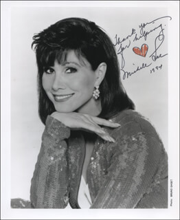 MICHELE LEE - AUTOGRAPHED SIGNED PHOTOGRAPH 1984