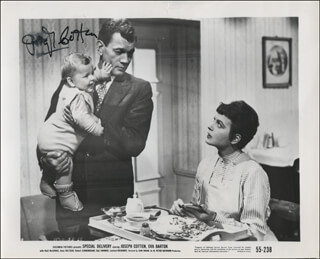 JOSEPH COTTEN - PRINTED PHOTOGRAPH SIGNED IN INK