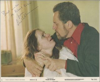 LIV ULLMANN - INSCRIBED PRINTED PHOTOGRAPH SIGNED IN INK
