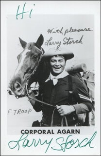 LARRY STORCH - PRINTED PHOTOGRAPH SIGNED IN INK