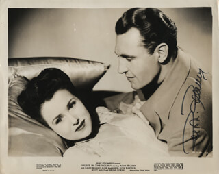RALPH BELLAMY - PRINTED PHOTOGRAPH SIGNED IN INK