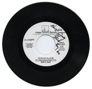 BEN E. KING - RECORD SIGNED