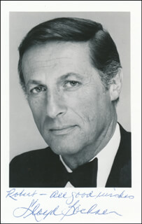 LLOYD BOCHNER - AUTOGRAPHED INSCRIBED PHOTOGRAPH