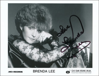 BRENDA LEE - PRINTED PHOTOGRAPH SIGNED IN INK