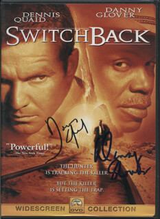 SWITCHBACK MOVIE CAST - DVD/CD COVER SIGNED CO-SIGNED BY: DENNIS QUAID, DANNY GLOVER