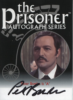 PETER BOWLES - TRADING/SPORTS CARD SIGNED
