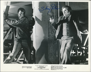 SIDNEY POITIER - PRINTED PHOTOGRAPH SIGNED IN INK