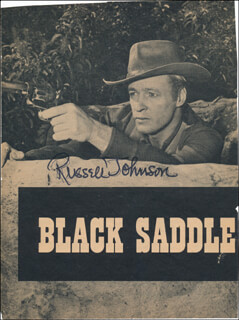 RUSSELL JOHNSON - MAGAZINE PHOTOGRAPH SIGNED