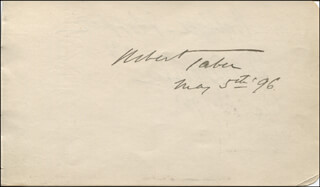 ROBERT TABER - AUTOGRAPH 05/05/1896 CO-SIGNED BY: DEWOLF HOPPER, EDNA WALLACE HOPPER