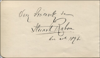 STUART ROBSON - AUTOGRAPH SENTIMENT SIGNED 12/30/1896 CO-SIGNED BY: FANNY DAVENPORT