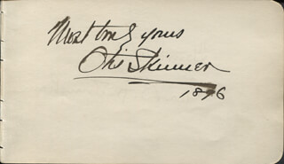 OTIS SKINNER - AUTOGRAPH SENTIMENT SIGNED 1896 CO-SIGNED BY: GEORGE B. FROTHINGHAM