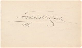 FRANCIS WILSON - AUTOGRAPH 1896 CO-SIGNED BY: FRANK DANIELS