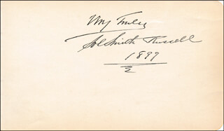 SOL SMITH RUSSELL - AUTOGRAPH SENTIMENT SIGNED 1897
