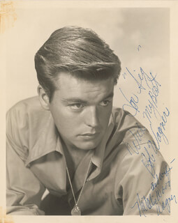ROBERT J. WAGNER - AUTOGRAPHED INSCRIBED PHOTOGRAPH CO-SIGNED BY: NATALIE WOOD