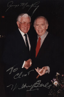 Autographs: MILTON BERLE - INSCRIBED PHOTOGRAPH SIGNED CO-SIGNED BY: GEORGE MURPHY