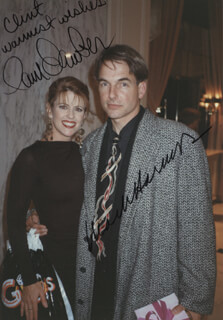 MARK HARMON - AUTOGRAPHED INSCRIBED PHOTOGRAPH CO-SIGNED BY: PAM DAWBER