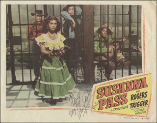SHUG FISHER - INSCRIBED LOBBY CARD SIGNED 09/28/1983