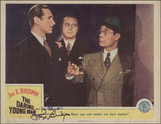 LLOYD BRIDGES - INSCRIBED LOBBY CARD SIGNED