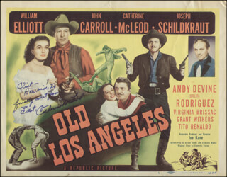 Autographs: CATHERINE MCLEOD - INSCRIBED LOBBY CARD SIGNED