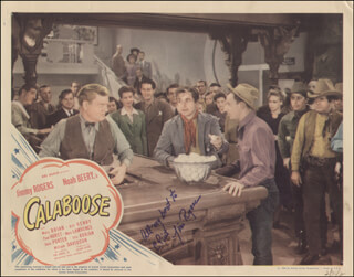 JIM ROGERS - INSCRIBED LOBBY CARD SIGNED