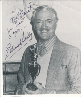 EDWARD ASHLEY - AUTOGRAPHED INSCRIBED PHOTOGRAPH