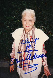 Autographs: IRIS ADRIAN - INSCRIBED PHOTOGRAPH SIGNED
