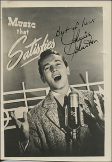 JOHNNIE JOHNSTON - AUTOGRAPHED SIGNED PHOTOGRAPH