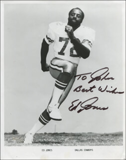 ED TOO TALL JONES - INSCRIBED PRINTED PHOTOGRAPH SIGNED IN INK