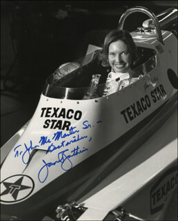 JANET GUTHRIE - AUTOGRAPHED INSCRIBED PHOTOGRAPH