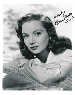 GLORIA HENRY - AUTOGRAPHED SIGNED PHOTOGRAPH