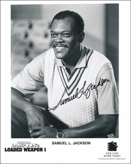 SAMUEL L. JACKSON - PRINTED PHOTOGRAPH SIGNED IN INK