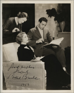 BILLIE BURKE - AUTOGRAPHED SIGNED PHOTOGRAPH 1959