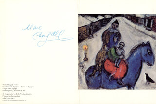 Autographs: MARC CHAGALL - GREETING CARD SIGNED