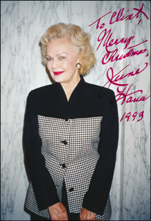 JUNE HAVER - AUTOGRAPHED INSCRIBED PHOTOGRAPH 1993