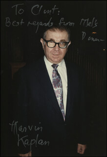 MARVIN KAPLAN - AUTOGRAPHED INSCRIBED PHOTOGRAPH