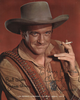 JAMES ARNESS - INSCRIBED ADVERTISEMENT SIGNED