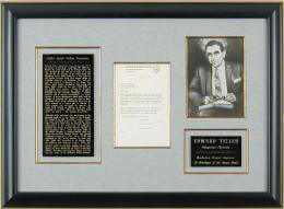 EDWARD TELLER - TYPED LETTER SIGNED 06/09/1980