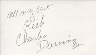 CHARLES DURNING - AUTOGRAPH NOTE SIGNED