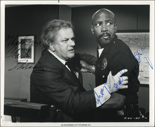 THE CHOIRBOYS MOVIE CAST - AUTOGRAPHED SIGNED PHOTOGRAPH CO-SIGNED BY: LOUIS GOSSETT JR., CHARLES DURNING