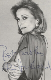 ELIZABETH HUBBARD - AUTOGRAPH NOTE ON PHOTOGRAPH SIGNED