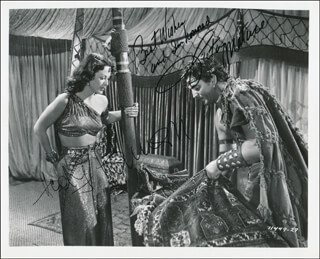 SAMSON & DELILAH MOVIE CAST - AUTOGRAPHED SIGNED PHOTOGRAPH CO-SIGNED BY: HEDY LAMARR, VICTOR MATURE