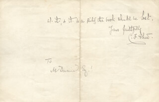 CHARLOTTE SHAW - AUTOGRAPH LETTER SIGNED 02/17/1907