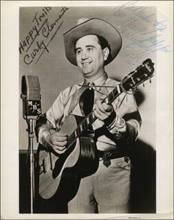 CURLY CLEMENTS - AUTOGRAPHED INSCRIBED PHOTOGRAPH