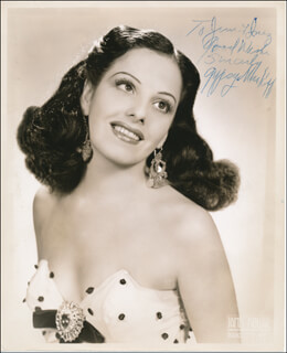 GYPSY MARKOFF - AUTOGRAPHED INSCRIBED PHOTOGRAPH