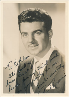 PAUL PICERNI - AUTOGRAPH NOTE ON PHOTOGRAPH SIGNED