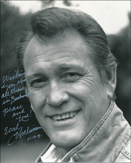 EARL HOLLIMAN - AUTOGRAPHED INSCRIBED PHOTOGRAPH 11/10/1991