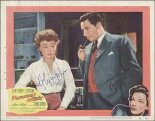 GLYNIS JOHNS - LOBBY CARD SIGNED